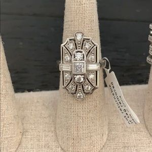 Statement Art Deco Cocktail Ring size 7